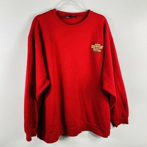 Six Flags Red Holiday In The Park Crewneck Sweater